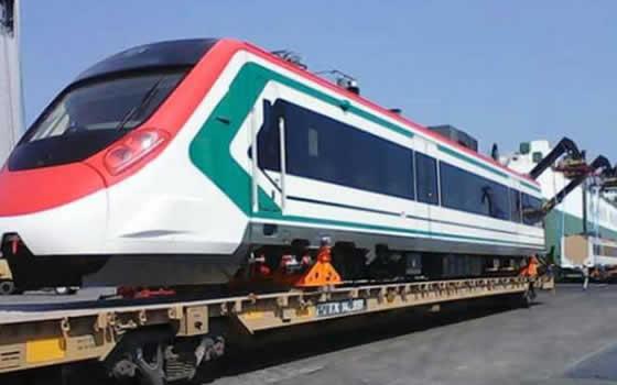 Llega el primer convoy del Tren Interurbano México-Toluca