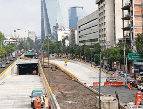 Doble túnel de Mixcoac está listo para circular
