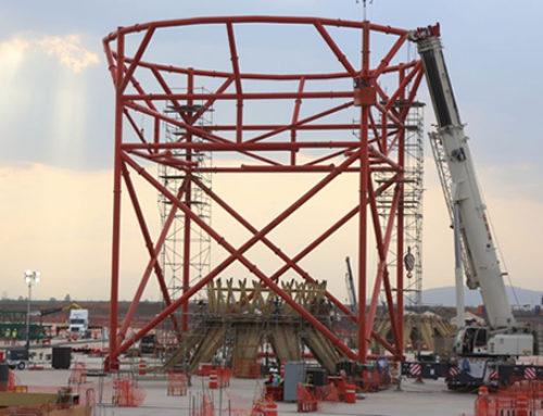 Avanza construcción del edificio terminal del NAIM