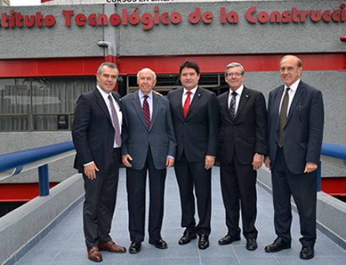 Nuestro Presidente Nacional el Ing. Eduardo Ramírez Leal y el Lic. Francisco Cervantes Díaz, Presidente de Concamin Industria Confederada realizaron un recorrido por las instalaciones del Instituto Tecnológico de la Construcción