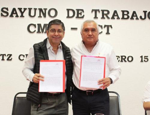 Ratifican convenio de colaboración e instalan Comisión Mixta CMIC-SCT
