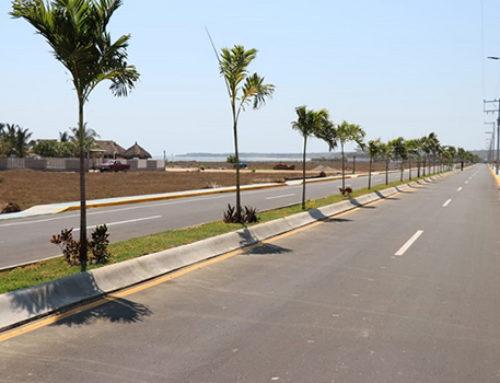Inauguran primera etapa de vía en Copala