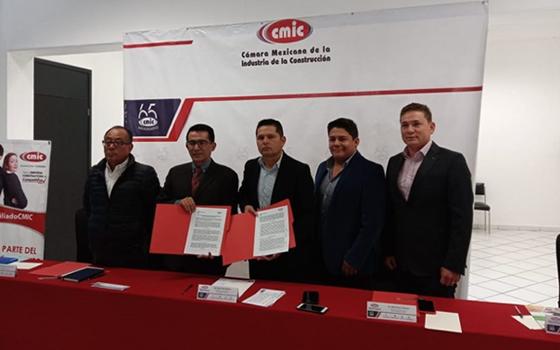 Firma CMIC y CONAGUA convenio de colaboración
