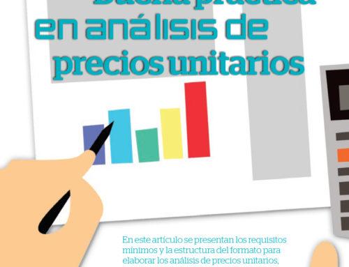 Buena práctica en análisis de precios unitarios