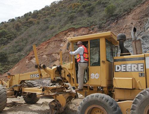 El avance de las obras de la carretera de Badiraguato-Guadalupe y Calvo