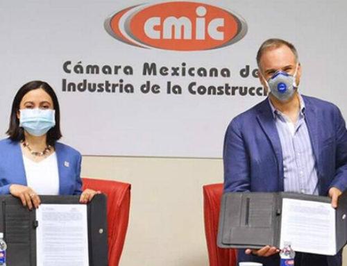 Firman convenio constructores y el Sistema Estatal Anticorrupción
