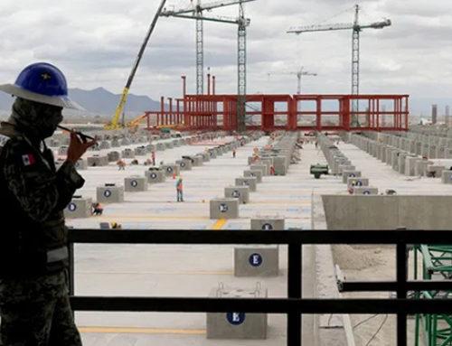 Avanzan obras del aeropuerto de Santa Lucía pese a COVID