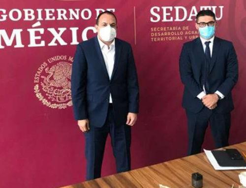 Gestiona Cuauhtémoc Blanco acciones de obra a favor de los morelenses
