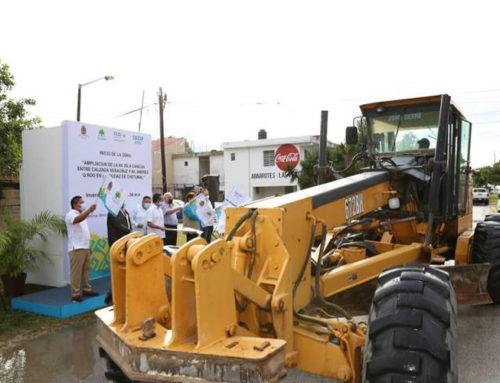 Invierten más de 44 mdp en la ampliación de la avenida Isla Cancún, en Chetumal