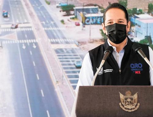 Entregan obra de modernización vial en Corregidora