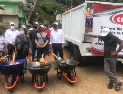 CMIC envía despensas y maquinaria para reparar caminos a zonas afectadas por Grace