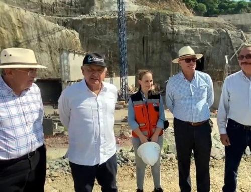 Reporta AMLO avance del 30% de presa en Sinaloa